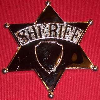 Jumbo Sheriff Badge Plastic Cowboy Costume Big Giant