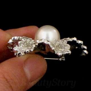 ADDL Item  1pc Rhinestone crystal flower bouquet brooch