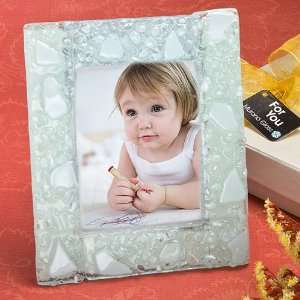 com Baby Keepsake Murano Collection white finish picture frame Baby