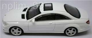 RASTAR 1/43 Diecast Car MERCEDES BENZ CL63 AMG White
