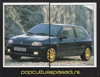 1993 RENAULT CLIO 2.0i 16V WILLIAMS Car 2 STICKER DECAL