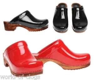 Sanita Retro Patent Danish Clogs Shoes (Art 457012)
