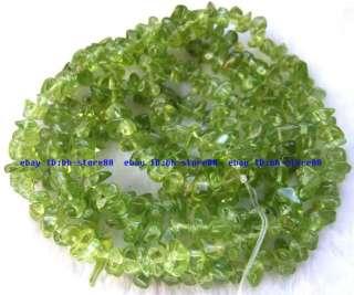 7mm Natural Green Peridot chips baroque Beads 34