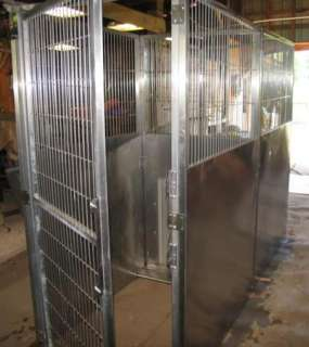 SHOR LINE STAINLESS STEEL WEDGE KENNEL RUN SYSTEM $4,447