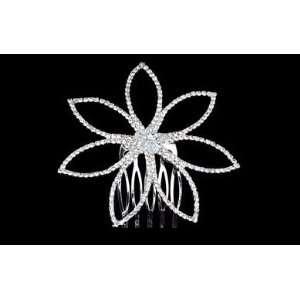 Large Flower Rhinestone Side Comb TRS1293 Beauty