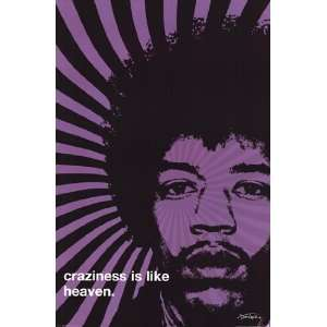 Jimi Hendrix   Craziness by Unknown 24x36