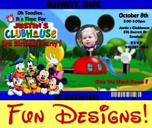 MICKEY MOUSE CLUBHOUSE Birthday Invitations MINNIE