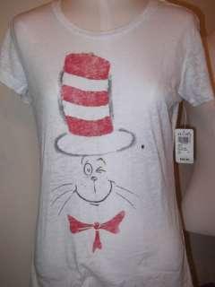 NWT WMS Jr T SHIRT OMG SEUSS CAT IN THE HAT M XL