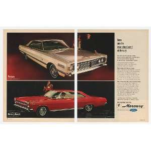 1966 Mercury Park Lane & Comet Cyclone 2 Page Print Ad