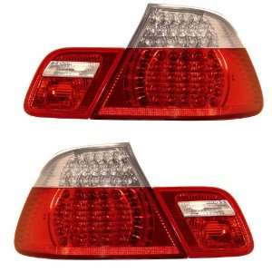 1999 2008 BMW E46 3 Series Conver. KS LED Red/Clear Tail