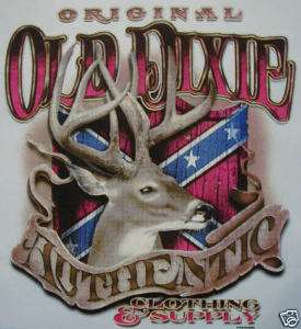 OLD DIXIE DEER HUNTING REBEL REDNECK SHIRT