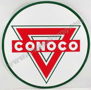 CONOCO GASOLINE 2 VINYL GAS & OIL PUMP DECAL DC 127D