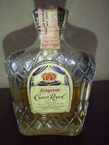 Seagrams CROWN ROYAL Miniature bottle  1958 Tax stamp