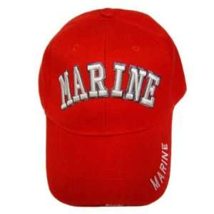 US MARINE CORPS SEAL SEMPER FI MARINES RED HAT CAP OSFA
