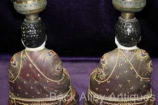 Antique Japanese Porcelain Satsuma Moriage Boudoir Perfume Buddha