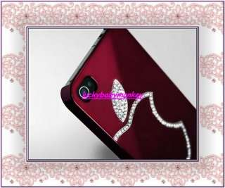 Diamond Crystal Hard Case Cover For All iphone 4 4G 4S Film
