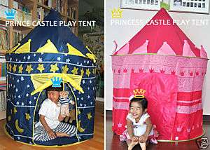 Cubby House Princess Prince Castle Play Tent Blue