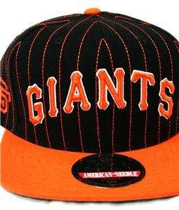Vintage American Needle San Francisco Giants Pin Stripe Snapback Hat