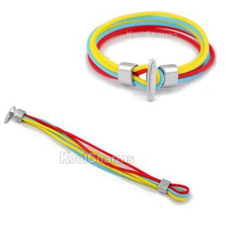 Wholesale 10PCS Colorful Multi Strand Surf Style Rubber Bracelet