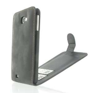 Black PU Leather Flip Case / Cover / Skin / Shell For Samsung Galaxy