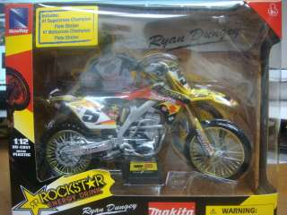 RYAN DUNGEY 1/12 MAKITA ROCKSTAR SUZUKI DIRT BIKE 44107
