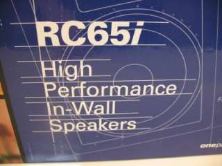 POLK AUDIO RC65i HIGH PERFORMANCE IN WALL SPEAKERS NEW