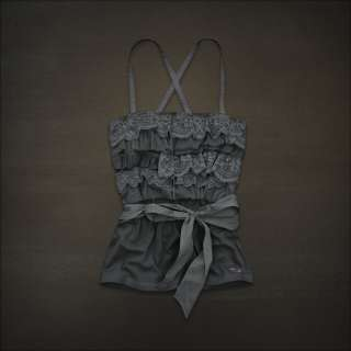 NWT Hollister Lace Ruffle top shirt tank BROAD BEACH Medium Epic Only