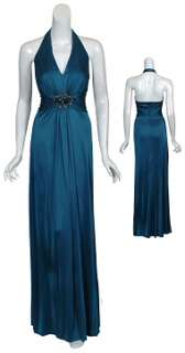 DAVID MEISTER Rich Dark Teal Long Eve Gown Dress 10 NEW