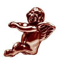 Guardian angel Cupid Charm bead jewelry rose gold pltd