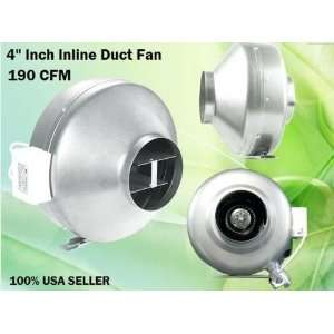 Inch Inline Fan Exhaust Blower Vent Hydroponics Cooling Inline Fan 4