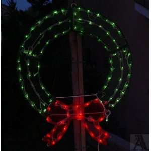 Lighted Holiday Christmas Yard Door Lawn Wreath Home & Kitchen