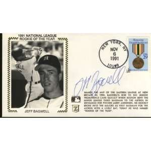 1991 Jeff Bagwell Signed Houston Astros Cachet Psa/dna