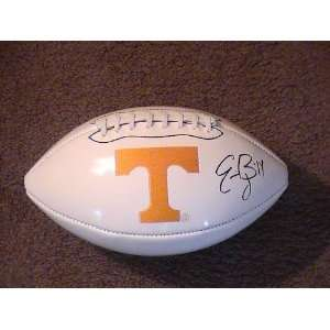 ERIC BERRY SIGNED AUTOGRAPHED LOGO FOOTBALL TENNESSEE VOLS COA
