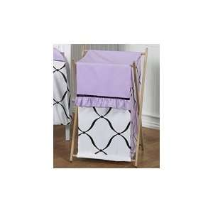 Clothes Laundry Hamper for Purple, Black and White Princess Bedding