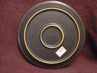 DENBY China Energy charcoal/white salad plate NWT
