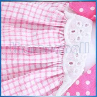 Layered Dress Skirt Clothes Apparel Pet Dog Pink Wh XS