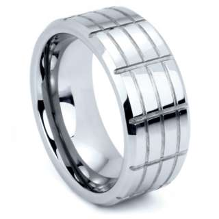 Tungsten Carbide Ring Wedding Band in Sizes 5 15   Dionysus
