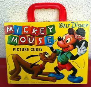 DISNEYLAND MICKEY MOUSE PICTURE CUBES GERMANY 1975 + BONUS GOLDEN