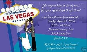 LAS VEGAS COUPLE INVITATION~Wedding~Reception~Rehearsal