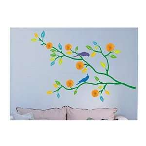 DIY Home Décor Flower Branches Wall Decal Sticker