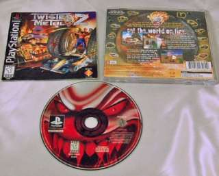Twisted Metal 2 (Sony PlayStation, 1996) PS1 PS2 PS3 Black Label