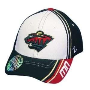 MINNESOTA WILD RED GREEN FLEX FIT SM SMALL HAT CAP