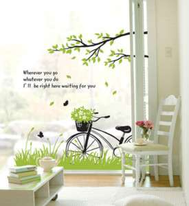 Large Size SPRING TREE Vinyl Art DIY Wall Decal Sticker
