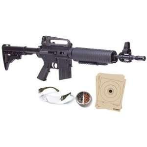 Crosman M4 177 Muli Pump Air Rifle Ki, Black   0.177