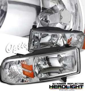 accessory 1994 2001 dodge ram pickup chrome housing headlights w amber