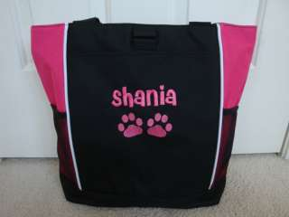 TOTE BAG Personalized Paw Prints Dog Puppy Veterinary