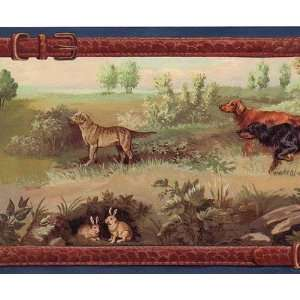 Wallpaper Borders on Wallpaper Border 15ft Fox Hunt Hounds Horse Country Dog