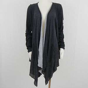 NEW Womens THREE DOTS Jersey Cardigan Sz XL $138 NWT Charcoal Gray