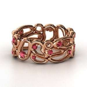 Desert Bloom Band, 14K Rose Gold Ring with Ruby Jewelry