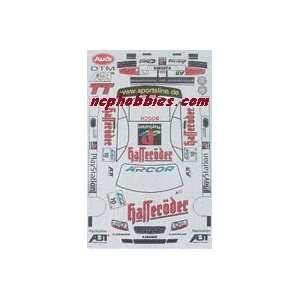 JK   Audi Dtm 2001 Hafferoder Sticker Sheet (Slot Cars